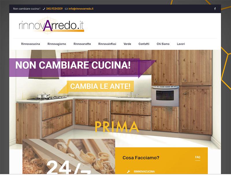Realizzazione sito web rinnovarredo