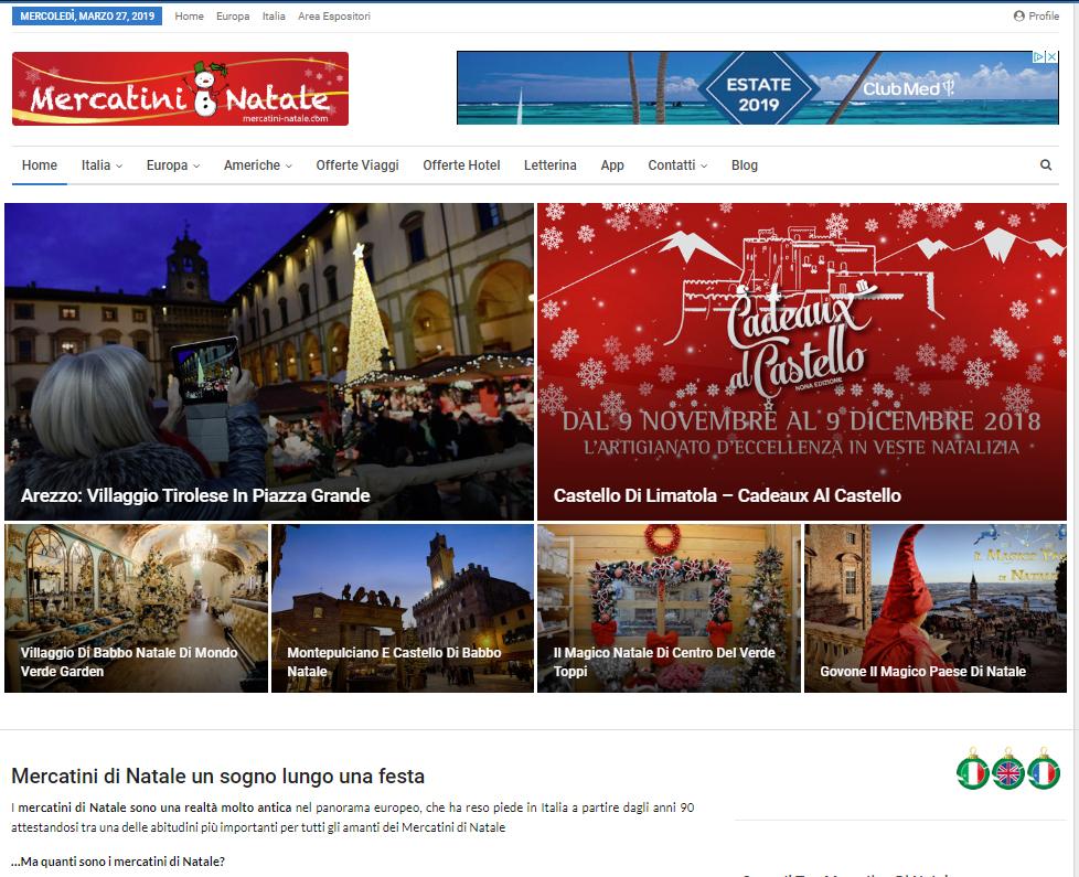 web agency realizzazione siti web mercatini Natale