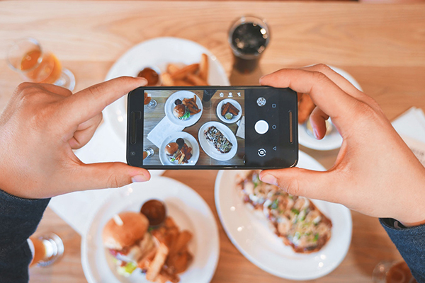 Social Media e Ristorante Fotografia del cibo